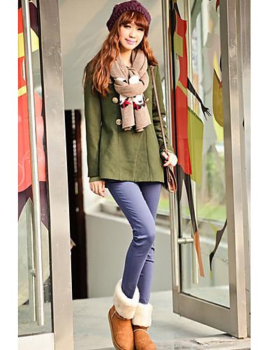 Kadın's Sokak Şıklığı Elbise - Solid Yüksek Bel