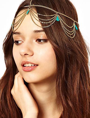 Kadın's Saç Bandı / Başlık / Püskül alaşım Klasik Stil / Saç Bantları / Parti / Saç Bantları / Altın