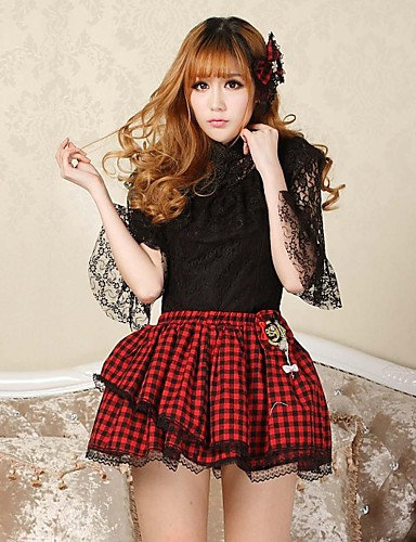 Sexy Plaid Goth Punk Lolita skolepige Club Kawaii Miniskirt