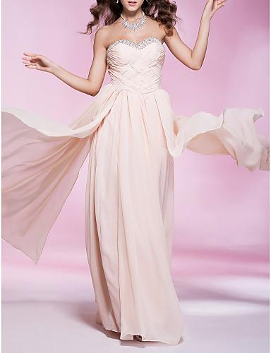 Kappe / kolonne stropløs kæreste gulvlængde chiffon prom kjole med perle af ts couture®