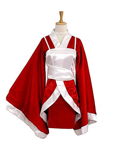 voordelige Gaming kostuums-geinspireerd door LOL Akari Video Spel Cosplaykostuums Cosplay Kostuums / Kimono Patchwork Lange mouw Ves Kimono Jas kostuums