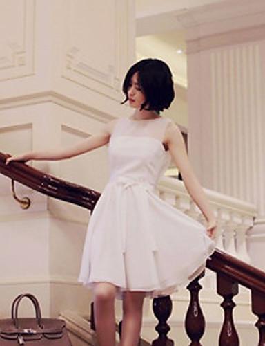 COCO Kvinder Monteret ærmeløs chiffon kjole