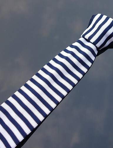 Men's Knitwear Neck Tie,Party Casual Striped All Seasons
