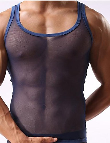 Men's Super Sexy Undershirt Solid Colored 1box