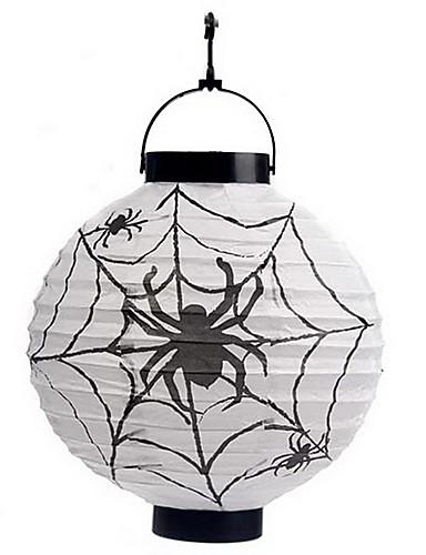 păianjeni albe decorare model lanternă Holloween (bec exclus)