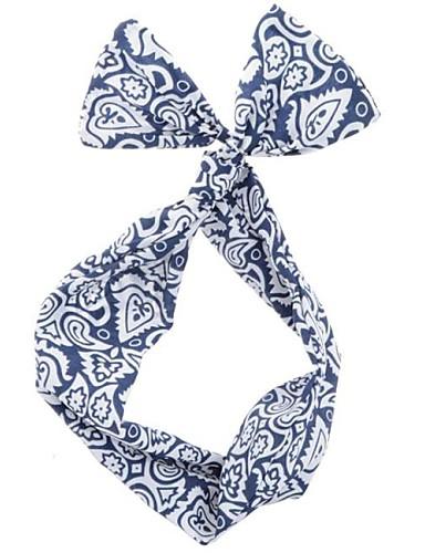 vrouwen blauw en wit mode chiffon bedraad hoofdbanden