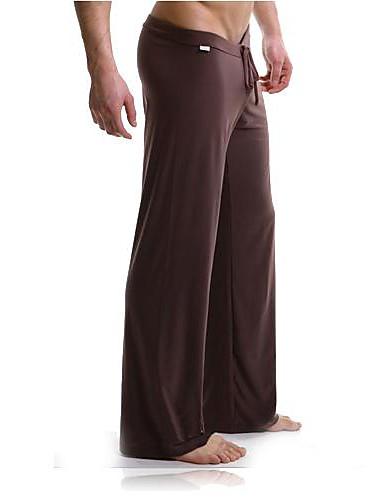 Муж. Другое Сексуальные платья Кальсоны Однотонный Классический Со стандартной талией