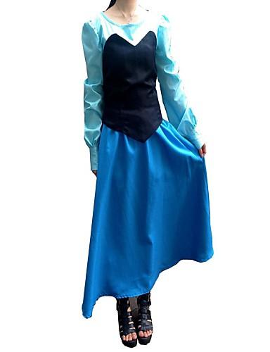 billige Cosplay og kostumer-Havfruehale Aqua Queen Aqua Prinsesse Cosplay Kostumer Festkostume Herre Jul Halloween Festival / Højtider Karneval Kostume Patchwork