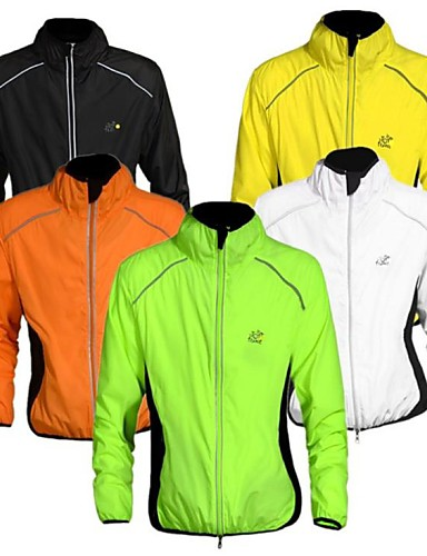 cheap Cycling Clothing-WEST BIKING® Men's Cycling Jacket Bike Jacket Windbreaker Ultraviolet Resistant Jacket Windproof Breathable Reflective Strips Sports Elastane Orange / Yellow / Green Mountain Bike MTB Road Bike
