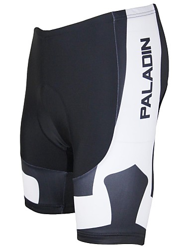cheap Cycling Clothing-ILPALADINO Men's Cycling Padded Shorts Bike Shorts Padded Shorts / Chamois Pants Breathable Quick Dry Ultraviolet Resistant Sports Polyester Lycra Black / White Road Bike Cycling Clothing Apparel