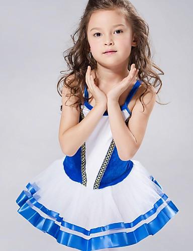 preiswerte Ballettbekleidung-Tanzkleidung für Kinder / Ballett Kleider & Röcke / Balletröckchen Elasthan / Chiffon / Samt Ärmellos