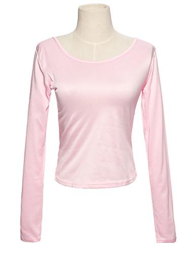 Damen Solide-Grundlegend T-shirt