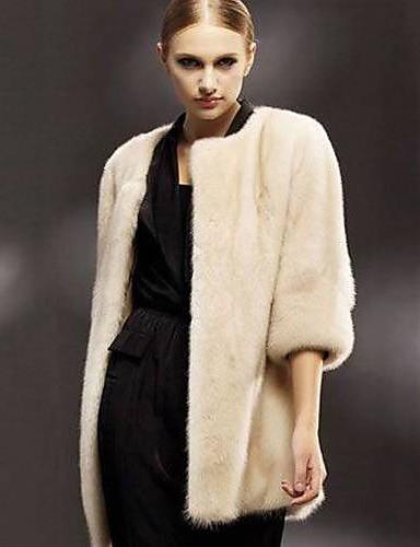 Pentru femei Palton Elegant & Luxos - Mată, Stil modern