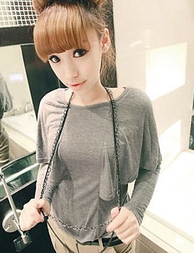 Damen Solide-Street Schick T-shirt