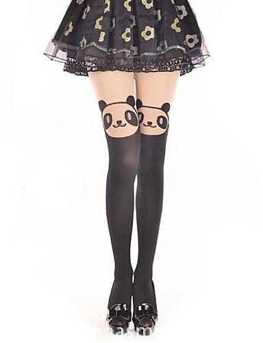 voordelige Kousen-Prinses Dames Sweet Lolita Classic Lolita See Through Sokken en kousen Dij Hoge Sokken Print Beer Fluweel Lolita-accessoires / Klassiek en Tradtioneel Lolita