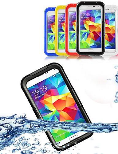 Etui Til Samsung Galaxy Samsung Galaxy etui Vandtæt / Transparent Fuldt etui Ensfarvet PC for S5 / S4 / S3