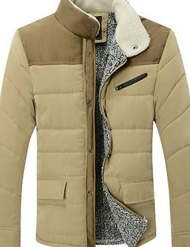 e253236f912 WAN pánská komfortní stojan na krk dlouhý rukáv plášť bavlněný kabát ...