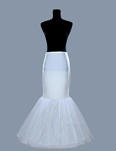 abordables Dessous de Robe de Mariage-Déshabillés Robe sirène et robe évasée Ras du Sol 2 Lycra Organza Blanc