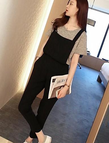 Dames Medium taille Micro-elastisch Recht Jeans Broek Polyester Zomer