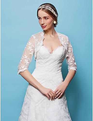 Lace Wedding Party Evening Wedding  Wraps Shrugs