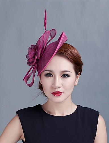 abordables Chapeau & coiffure-tulle plume fascinators fleurs bandeau style féminin classique