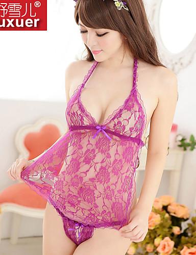 Shuxuer ® Women Core Spun Yarn/Lace Ultra Sexy Bellyband Nightwear (with T-back)