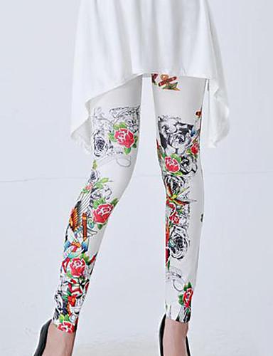 Kadın Polyester Pamuk Karışımları Desenli Legging,Bu Stil BEDEN için DOĞRUDUR.
