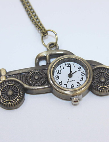 Creative Car Shaped Pocket Watch Sweater Necklace