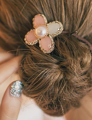 Damen Niedlich Party Büro, Edelstein & Kristall Künstliche Perle Aleación Haargummi