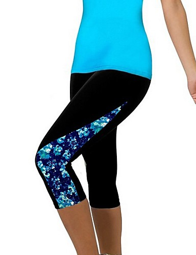Women's Popular Print Fitness Active Skinny Capri Pants