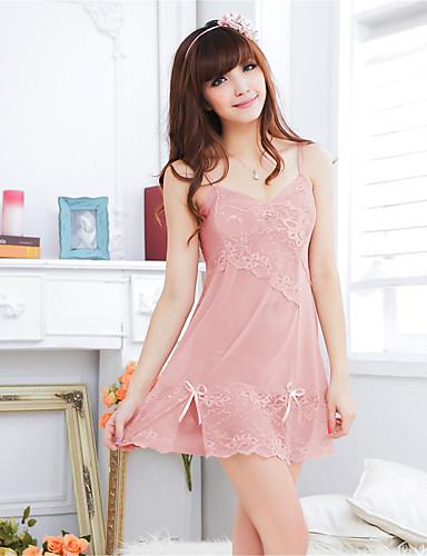 Women's Robes Ultra Sexy Nightwear Solid Organza Pink