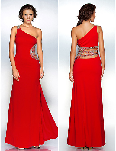 a0807c7104 Formal Evening   Military Ball Dress - Ruby Plus Sizes   Petite  Sheath Column One Shoulder Floor-length Polyester 245976 2019 –  119.99