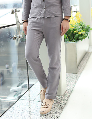 Men's Casual Slim Sweatpants Chinos Pants - Solid Colored