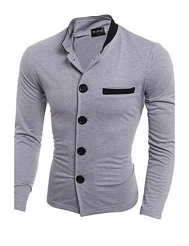 a férfiak vékony alkalmi blézer, mások hosszú ujjú fekete / szürke póló