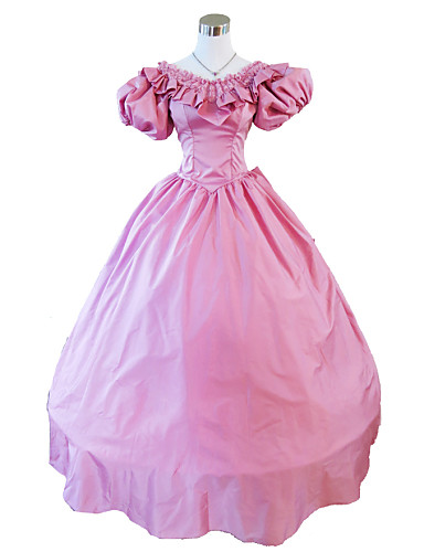 Victorian Medieval Costume Women s Dress Party Costume Masquerade Vintage  Cosplay Lace Terylene Satin Party Prom Short Sleeve Long Length Ball Gown  Plus ... e271ac79cfe3