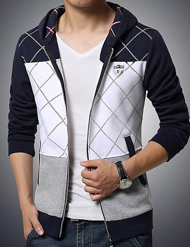 Sets Activewear Pour des hommes Manches longues Sport / Grandes Tailles A Motifs Coton / Polyester