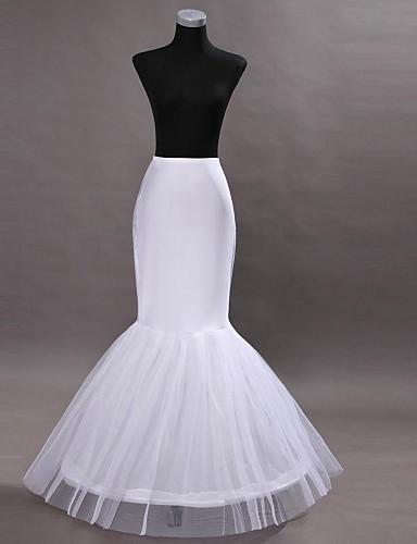 abordables Dessous de Robe de Mariage-Mariage Déshabillés Nylon Mollet Robe sirène et robe évasée avec Teint