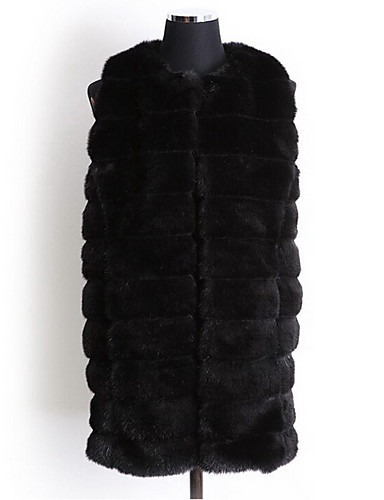 Women Faux Fur Top , Belt Not Included Fur Coat Winter Plus Size Overcoat