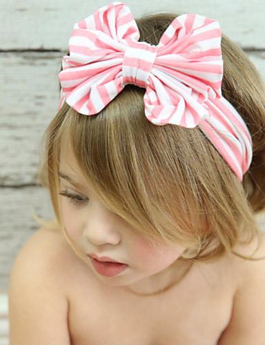 Genç Kız Tüm Mevsimler Saç Bantları Pamuklu Saç Aksesuarları - Fuşya Koyu Mavi Kırmzı Mavi Pembe