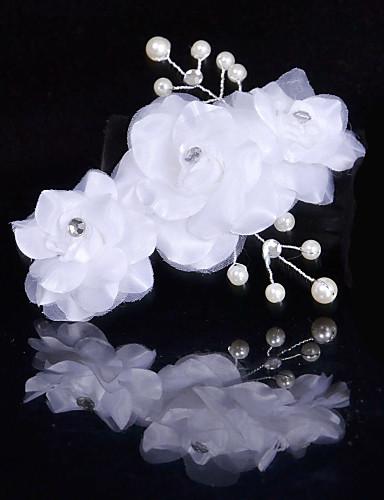 Einschichtig Spitzen-Saum Hochzeitsschleier Kopfbedeckung mit Schleier Mit Tüll