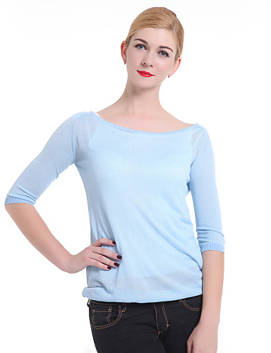 Women's Cotton Pullover - Solid Colored
