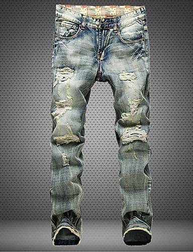 Erkek Günlük Pamuklu Salaş İnce Kotlar Pantolon Solid