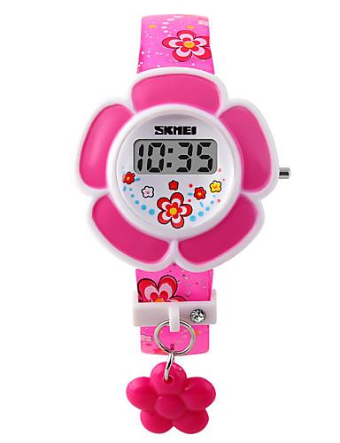 povoljno Cvjetni satovi-dame Narukvica Pogledajte Digitalni Umjetna koža Pink / Ljubičasta Šiljci za meso Šarm Moda - Crvena Pink Dvije godine Baterija Život / Maxell626 + 2025