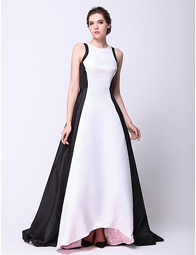 A-Linie Princess Klenot Asymetrické Taft Maturitní ples Formální večer Šaty s Sklady podle TS Couture®