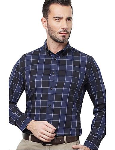 JamesEarl 남성 셔츠 카라 긴 소매 셔츠 & 블라우스 브라운 - DA112047104