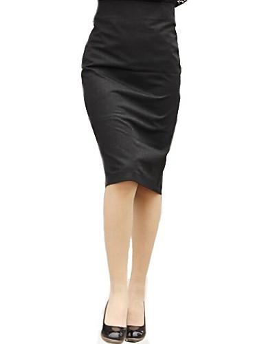 Damen Arbeit Bodycon Röcke - Solide