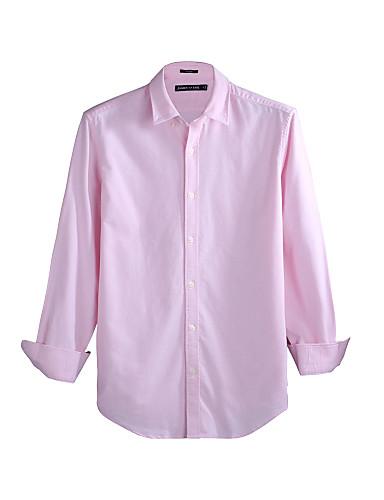 JamesEarl Muškarci Kragna košulje Dugi rukav Shirt & Bluza Narančasta - M81XF001102