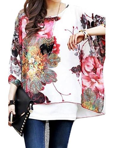 Pentru femei Bluză Floral Mâneci Lejere