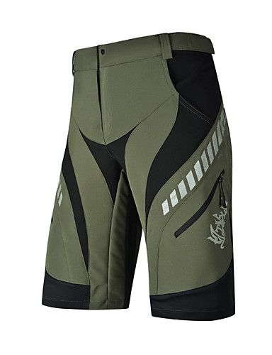 cheap Cycling Clothing-Nuckily Men's Cycling Shorts Bike Baggy Shorts Underwear Shorts Padded Shorts / Chamois Waterproof Windproof Breathable Sports Polyester Spandex Black / Light Green Mountain Bike MTB Road Bike Cycling