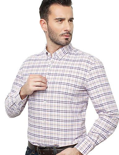 JamesEarl 남성 셔츠 카라 긴 소매 셔츠 & 블라우스 레드 - DA192034318